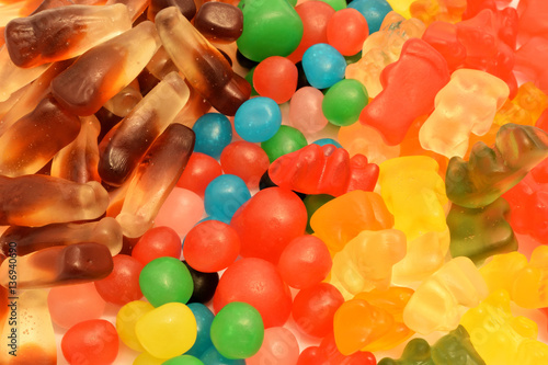 Foto op Aluminium Snoepjes bonbons couleurs