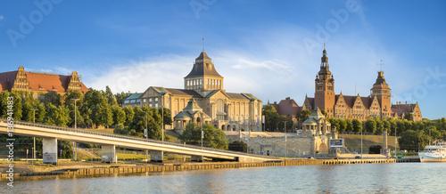 Obraz Szczecin,Poland-December 2016:panorama of the city of Szczecin  - fototapety do salonu
