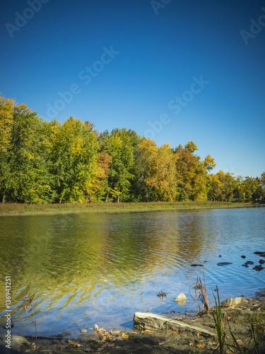 Fototapeta Autumn landscape obraz na płótnie