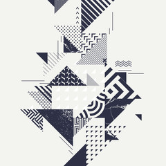 FototapetaAbstract art background with geometric elements