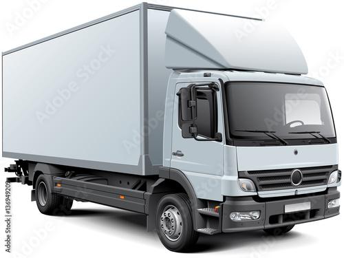 Fotografía  White box truck