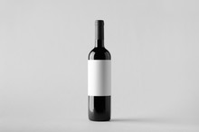 Wine Bottle Mock-Up. Blank Label