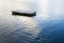 Floating Swimming Raft In Greenwood Lake(NY)