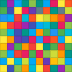 Multi Color Mosaic Tile Square. Background.