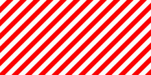 Red And White Stripes Diagonally Sign, The Size Load