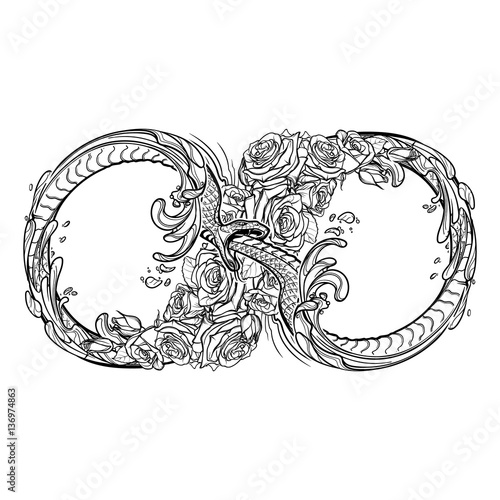 Uroboros Serpent Artistic Decorative Interpretation Of The