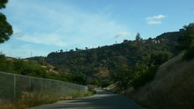 Sunny Day Car Drive Road Trip Los Angeles Hollywood Hills View Panorama 4k Usa