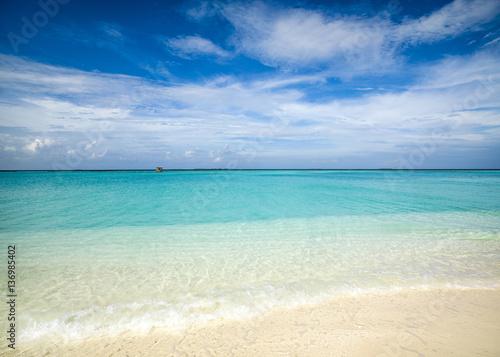 Staande foto Tropical strand Tropical island landscape, Maldives