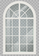 Classic Arched Window Of Wood ...