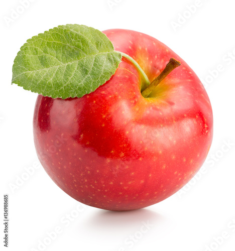 Fotografie, Obraz  red apple isolated on white background