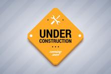 Under Construction Sign. Vecto...