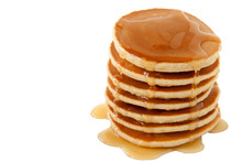 Pancakes With Maple Syrup Isol...