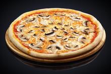 Pizza With Mushrooms, Mozzarella Cheese, Mushrooms