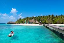 Jet Ski At Maldives Beach