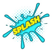 Splash Text And Effect Icon, Pop Art Style