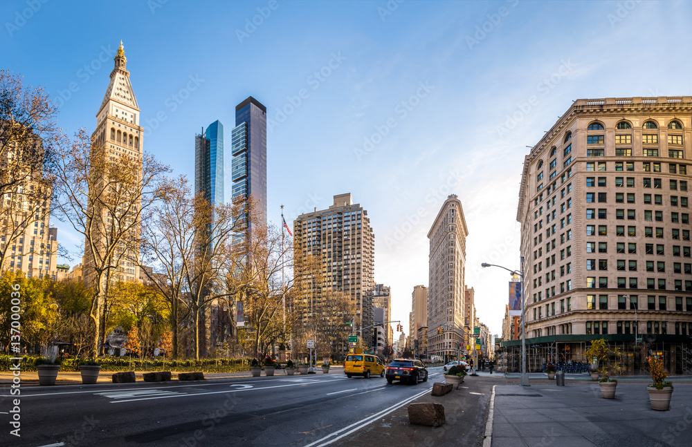 Fototapety, obrazy: Buildings around Madison Square Park - New York City, USA