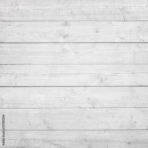Poster Bois White wooden planks, tabletop, floor surface or wall.