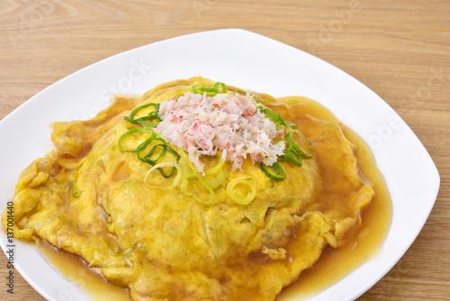 Tenshinhan/crab omelet on rice. Wallpaper Mural