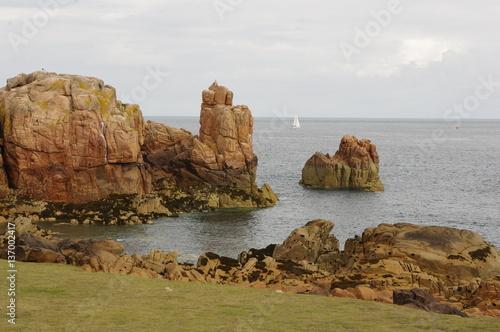 Poster Algérie La roche domine la mer