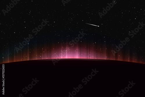 Photo  aurora space background