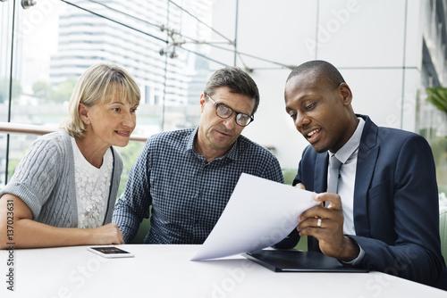 Valokuvatapetti Business Communication Connection People Concept
