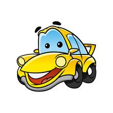 Cheerful Car Character