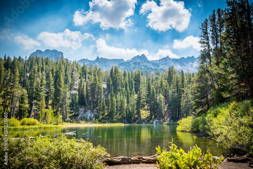emerald lake in the mammoth lakes basin appear green buy this