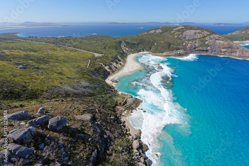 Printed kitchen splashbacks Khaki Aerial view of Isthmus Bay near Albany, Western Australia