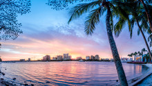 West Palm Beach Skyline With P...