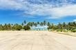 canvas print picture Runway at Bora Bora Airport, Tahiti, French Polynesia