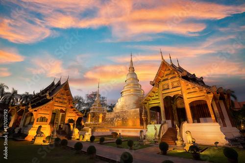 Garden Poster Temple Wat Phra singh