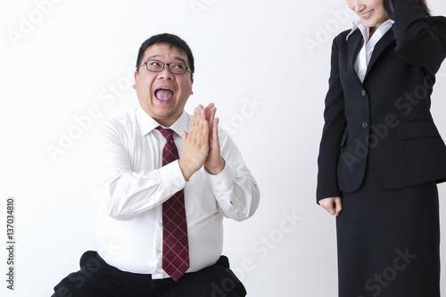 Fotografie, Obraz  上司と部下