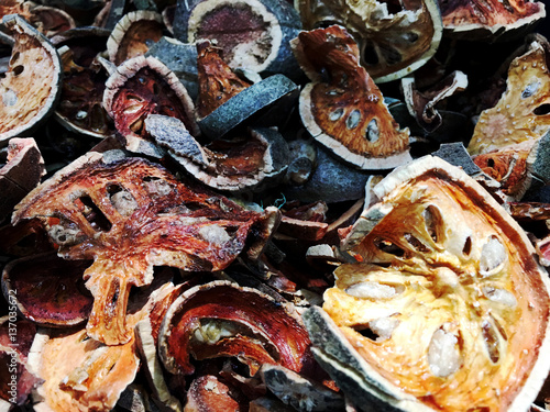 Poster Coquillage Dried Quince herbs, boil water taste sweet
