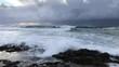 Rough sea, Ascea, Cilento, Italy, 4K