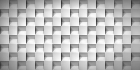 Panel SzklanyVolume realistic texture, cubes, gray 3d geometric pattern, design vector background