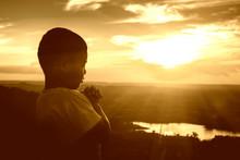 Boy Praying On The Mount, Than...