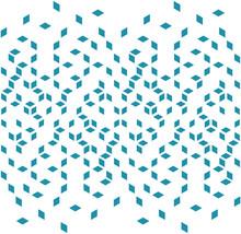 Abstract Geometric Blue Graphic Minimal Halftone Pattern