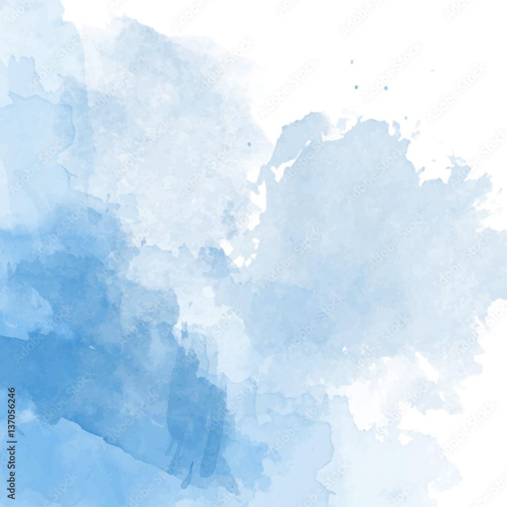 Fototapeta Blue watercolor background vector