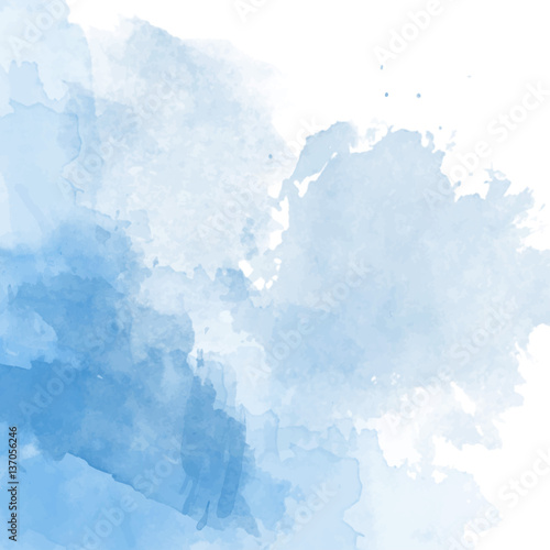 Fototapeta Blue watercolor background vector obraz