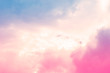 canvas print picture - soft cloud sky abstract pastel colorful background