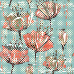 NaklejkaVector colorful tulips pattern. Seamless can be used for wallpapers, fills, web page backgrounds, surface textures