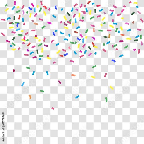 Fototapeta Multicolored confetti background. Vector holiday illustration. obraz na płótnie