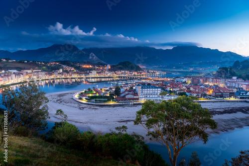 Recess Fitting Turkey Panoramic view of the city of Ribadesella