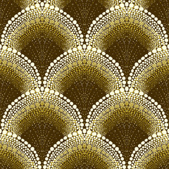 NaklejkaDotted geometric pattern in art deco style