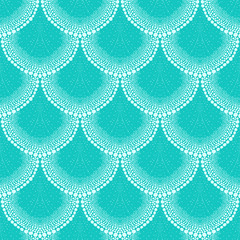 FototapetaPattern in art deco style tropical aqua blue