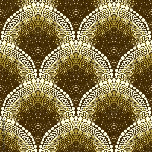 Fotografia  Dotted geometric pattern in art deco style