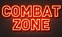 Combat Zone Neon Sign On Brick...