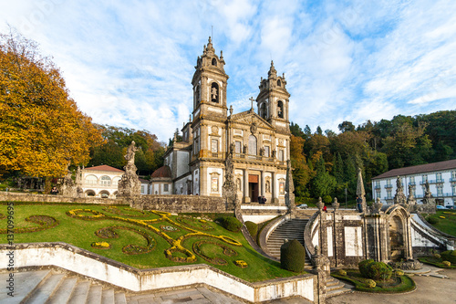 Fotografia  Bom Jesus do Monte Monastery in Braga in a warm evening, Portugal