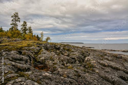 Valokuva  The severe beauty of lake Ladoga.