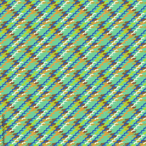 Photo  Vector multicolor modern version of houndstooth
